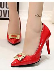 Damen Schuhe Leder Frühling Herbst Pumps High Heels Stöckelabsatz Für Normal Weiß Schwarz Grau Rot