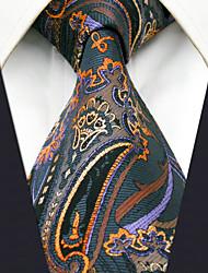 Недорогие -мужская работа случайный искусственный галстук - геометрический цветной жаккард, основной
