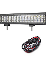 cheap -162W 16200LM 6000K 3-Rows LED Work Light Cool White Flood Offroad Driving Light for Car/Boat/Headlight IP68 9-32V  2m 1-To-1 Wiring Harness Kit