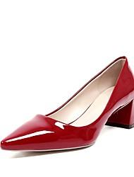 preiswerte -Damen Schuhe Lackleder Sommer Herbst Pumps High Heels Spitze Zehe Für Hochzeit Party & Festivität Schwarz Rot