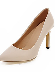 cheap -Women's Shoes Leatherette Spring Fall Comfort Heels Stiletto Heel Pointed Toe For Party & Evening Dress Red Brown Peach Purple Beige