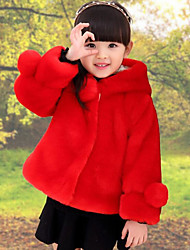Girls' Solid Down & Cotton Padded Winter