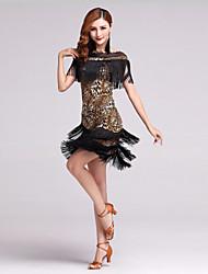 Недорогие -мы будем латинскими танцами наряды женских трусов из молочного волокна без рукавов с короткими юбками