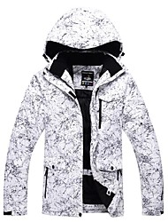 Unisex Ski Jacket Waterproof Thermal / Warm Windproof Ski / Snowboard Outdoor Winter Sports