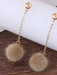 Women's Drop Earrings Fashion Plush Alloy Ball Jewelry For Daily Casual