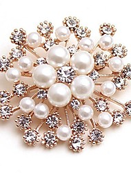 cheap -Women's Flower Synthetic Diamond / Imitation Pearl Imitation Pearl Brooches - Classic / Fashion Gold Brooch For Daily / Date