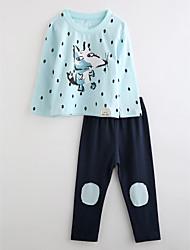 Boys' Cartoon Sleepwear-Cotton-Fall Long Sleeve