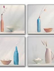 economico -Cartoni animati Natura morta Pitture ad olio con cornice Decorazioni da parete,Acciaio Materiale con cornice For Decorazioni per la casa