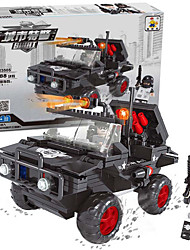 cheap -AUSINI Building Blocks 288pcs Vehicles / Military / Police Police car / Tank Gift