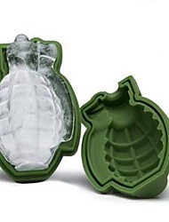 3D Grenade Ice Cube Mold Maker Silicone Tray Great Bar Party Military Mens Gift