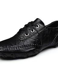 Недорогие -Для мужчин обувь Полиуретан Весна Осень Удобная обувь Топ-сайдеры Назначение Повседневные Черный Хаки
