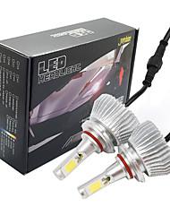 Недорогие -joyshine c6-9005 светодиодные фары 60w 6000lm dc9-36v cob конверсионный комплект луча света холодный белый