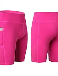 cheap -Women's Pocket Yoga Shorts - Blue, Pink, Grey Sports Shorts Activewear Fitness, Running & Yoga Stretchy