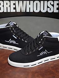Homme Chaussures Tissu Automne Hiver Confort Basket Lacet Pour Décontracté Noir Noir et Or Noir/blanc Noir/Rouge