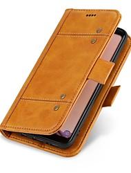 preiswerte -Hülle Für Apple iPhone X iPhone 8 Geldbeutel Kreditkartenfächer Flipbare Hülle Handyhülle für das ganze Handy Volltonfarbe Hart Echtes