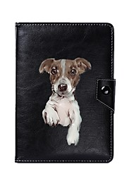 billige -universel hund pu læderstativ cover taske til 7 tommer 8 tommer 9 tommer 10 tommer tablet pc