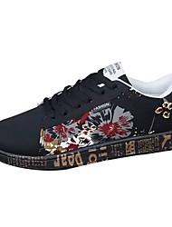 economico -Da uomo Scarpe Tessuto Primavera Autunno Comoda Sneakers Lacci Per Casual Nero Nero e Oro Blu White/Blue