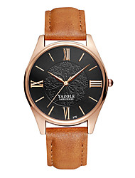 cheap -Men's Wrist Watch Hot Sale / Cool Leather Band Flower / Casual / Fashion Black / Brown / SSUO 377