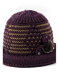 Da donna Inverno Maglia Maglina Cappelli Cappello di lana,Con stampe Floreale Colori misti