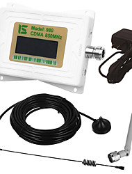 Mini intelligent lcd affichage cdma980 850 mhz téléphone portable signal amplificateur répéteur avec extérieur ventouse antenne /