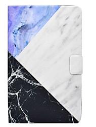 preiswerte -Hülle Für Samsung Galaxy Ganzkörper-Gehäuse Tablet-Hüllen Marmor Hart PU-Leder für Tab E 9.6