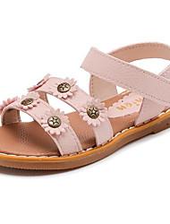 preiswerte -Mädchen Schuhe PU Winter Herbst Komfort Sandalen für Normal Schwarz Beige Rosa