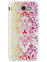 cheap -For Case Cover Ultra-thin Transparent Pattern Back Cover Case Lace Printing Soft TPU for Samsung Galaxy J7 (2016) J7 (2017) J7 V J7 Perx