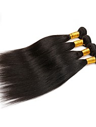 cheap -Indian Hair Straight 4 Bundles Human Hair Weaves Natural Black Human Hair Extensions Women's