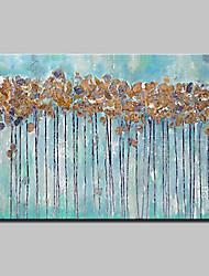 economico -Dipinta a mano Astratto Orizzontale,Astratto Modern 1pc Tela Hang-Dipinto ad olio For Decorazioni per la casa