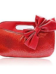 baratos -Mulheres Bolsas Metal Bolsa de Festa Lantejoulas para Casamento / Festa / Eventos Vermelho / Cinzento Claro