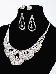 cheap -Women's Waves Basic Statement Jewelry Chain Necklace Rhinestone Alloy Chain Necklace , Wedding Party Engagement