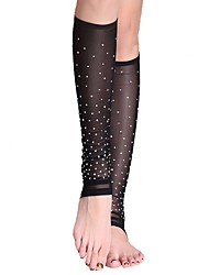 cheap -Belly Dance Stockings Women's Performance Tulle Crystals/Rhinestones Socks