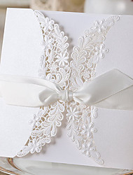 Wrap & Pocket Wedding Invitations Invitation Cards Classic Style Embossed Paper