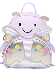 Kids Bags All Seasons PU Backpack Pattern / Print for Casual Formal Black Blushing Pink Purple