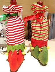 Недорогие -1шт рождество чулок красное вино бутылка крышки сумки обеденный стол украшения партия рождественские декоры