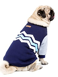 cheap -Dog HTC One X G23 S720e Sweatshirt Dog Clothes Color Block Dark Blue Pink Cotton Costume For Pets Casual/Daily Keep Warm New Year's