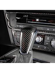 abordables -Automobile Remplacement du bouton de changement de véhicule(Fibre de Carbone)Pour Audi 2012 2013 2014 2015 A6