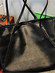 cheap -Women Bags PU Shoulder Bag Zipper for All Seasons Black Light Purple Wine