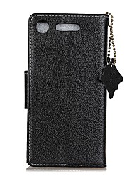 cheap -Case For Sony Xperia XA1 Xperia L1 Card Holder Wallet Flip Full Body Solid Color Hard Genuine Leather for Sony Xperia XA1 Sony Xperia E5