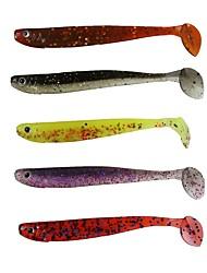 Недорогие -8 штук Мягкие приманки пластик Ловля на приманку Спиннинг Ловля на крючок Пресноводная рыбалка Обычная рыбалка Ужение на спиннинг Ловля