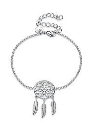 abordables -Femme Cristal / Zircon Chaînes & Bracelets / Charmes pour Bracelets - Plaqué argent Bracelet Argent Pour Quotidien / Soirée