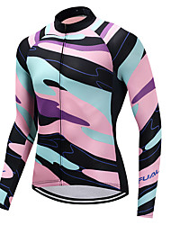 cheap -FUALRNY® Men's Long Sleeves Cycling Jersey - Pink Bike Jersey, Quick Dry