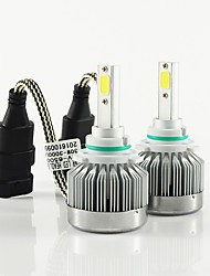 abordables -2pcs 9003 / H8 / 9006 Automatique Ampoules électriques 30W COB 3000lm 2 Lampe Frontale For Universel Tous les modèles Toutes les Années