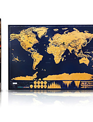 Scratch Map Deluxe of the World for Travelers Toys Map Classic 1 Pieces