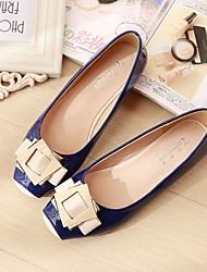 cheap -Women's Shoes Pigskin Spring Fall Comfort Flats Flat Heel Square Toe For Casual Almond Blushing Pink Blue Black