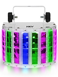1PCS HKV® 24W RGBW LED 6 Channel Dmx 512 Voice-activated Voice-control Automatic Control LED Projector Home KTV Disco Stage Lighting Lights 100-240V