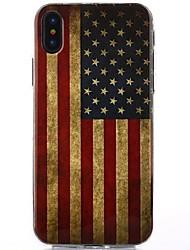 ce9316fff67 Funda Para Apple / iPhone X iPhone X IMD Funda Trasera Bandera / Brillante  Suave TPU para iPhone X