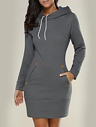 cheap -Women's Long Sleeves Slim Long Hoodie - Solid