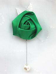 economico -Bouquet sposa Fiore all'occhiello Matrimonio Con perline Poliestere 2 cm ca.