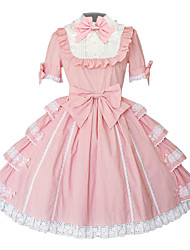 cheap -Sweet Lolita Dress Princess Women's Dress Cosplay Pink Knee Length